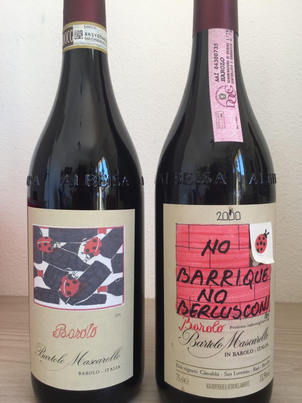 Bottiglie di Barolo di Bartolo Moscarello